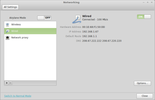 Screenshot : LMDE — NetworkManager.